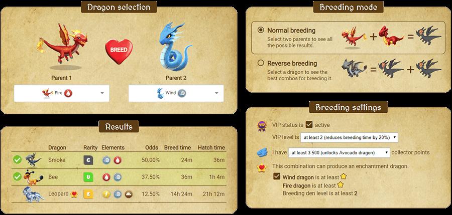 dragon mania breeding times